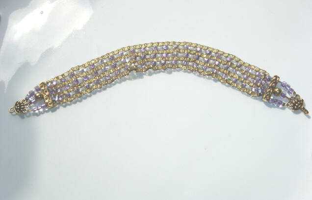 Fifiany & Co. Purple and Gold Beaded Collar